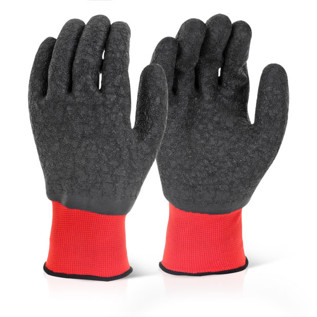 Click2000 Multi Purpose Latex Polyester Glove 10/XL Black Ref MP4FCXL [Pack 100] *Up to 3 Day Leadtime*