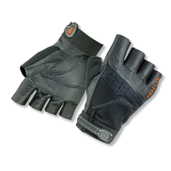 Ergodyne Impact Fingerless Glove Small Black Ref EY900S Up to 3 Day Leadtime