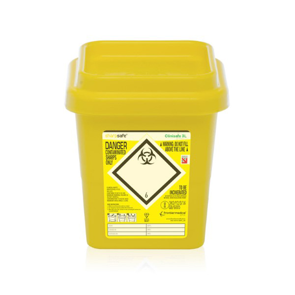 Click Medical Clinisafe Container 3Ltr Ref CM0639 Up to 3 Day Leadtime