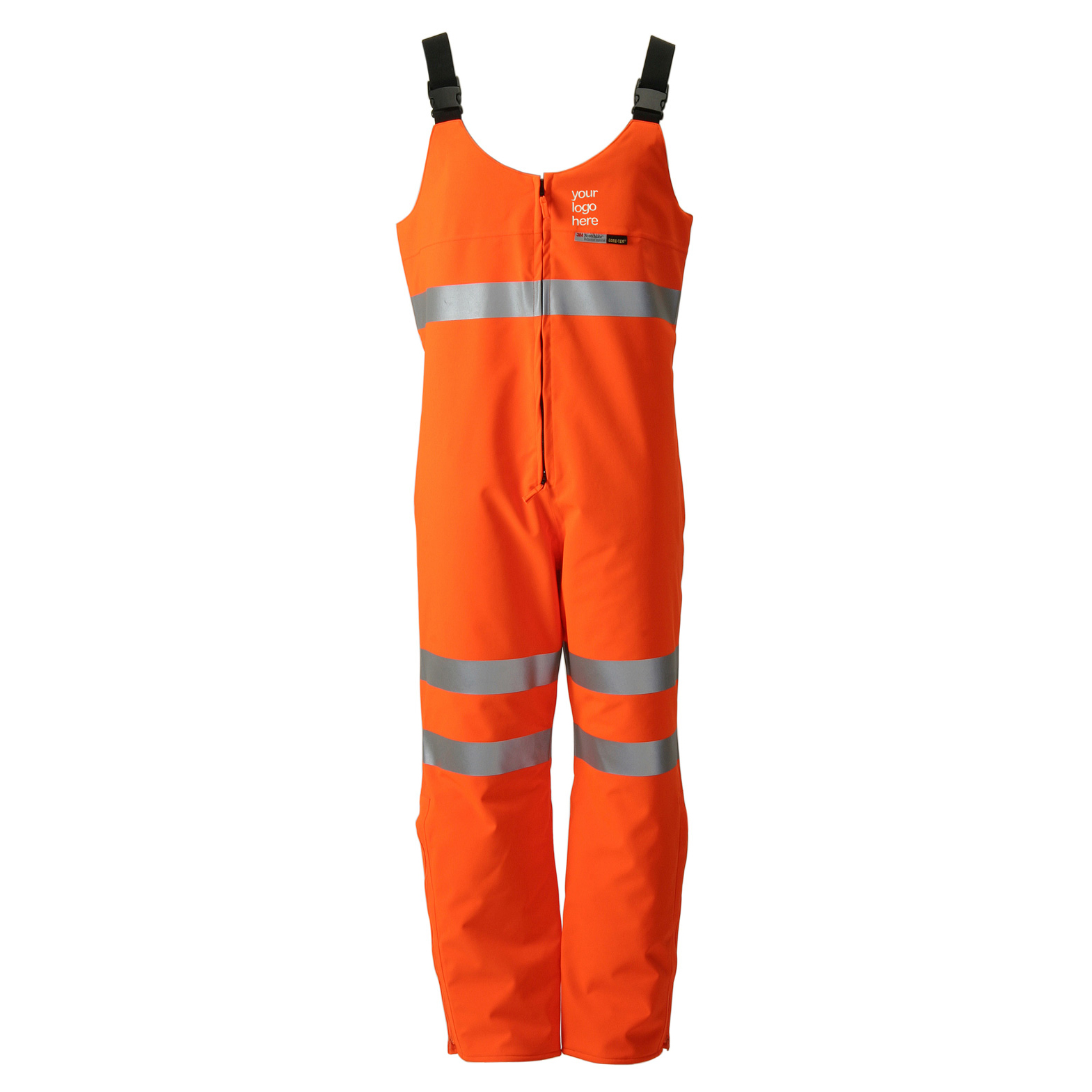 B-Seen Gore-Tex Foul Weather Salopette Orange S Ref GTHV14ORS Up to 3 Day Leadtime