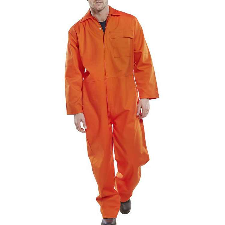 Coveralls / Overalls Click Fire Retardant Boilersuit Cotton Size 60 Orange Ref CFRBSOR60 *Up to 3 Day Leadtime*