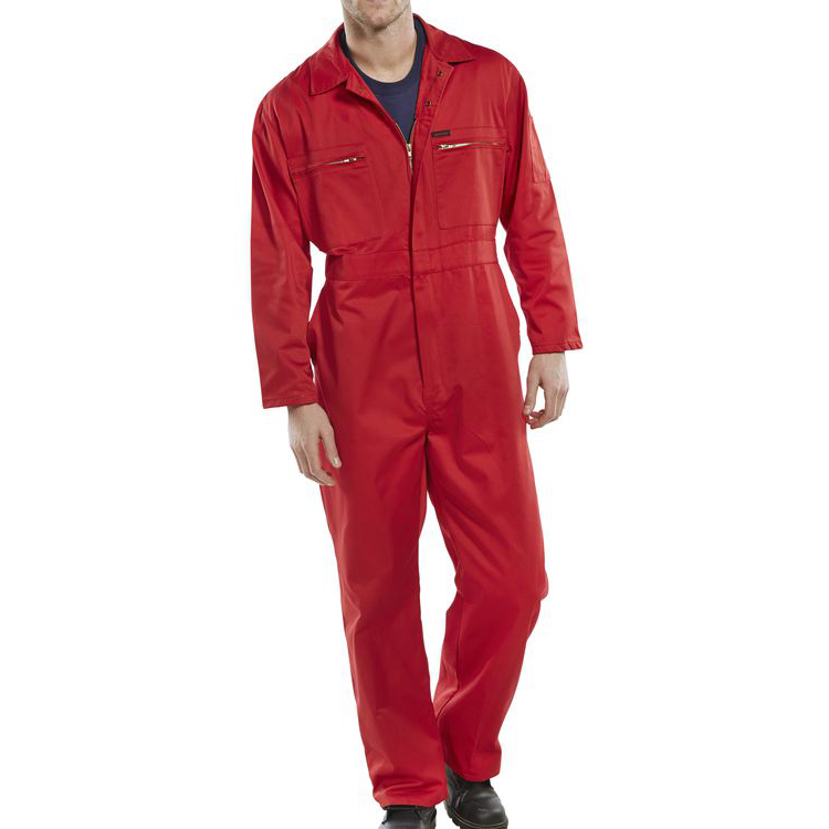 Protective coveralls Super Click Workwear Heavy Weight Boilersuit Red Size 48 Ref PCBSHWRE48 *Up to 3 Day Leadtime*