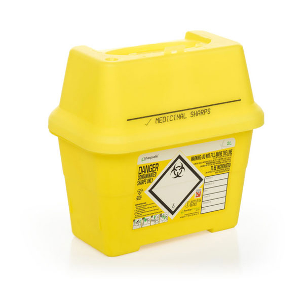 )Click Medical Sharps Bin 2Ltr