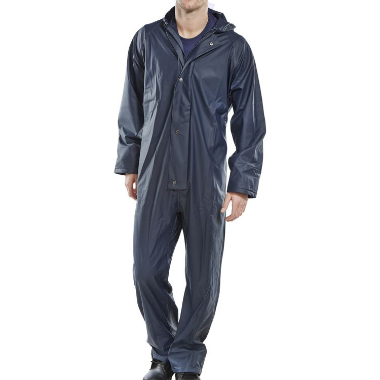Super B-Dri Weatherproof Coveralls L Navy Blue Ref SBDCNL *Up to 3 Day Leadtime*