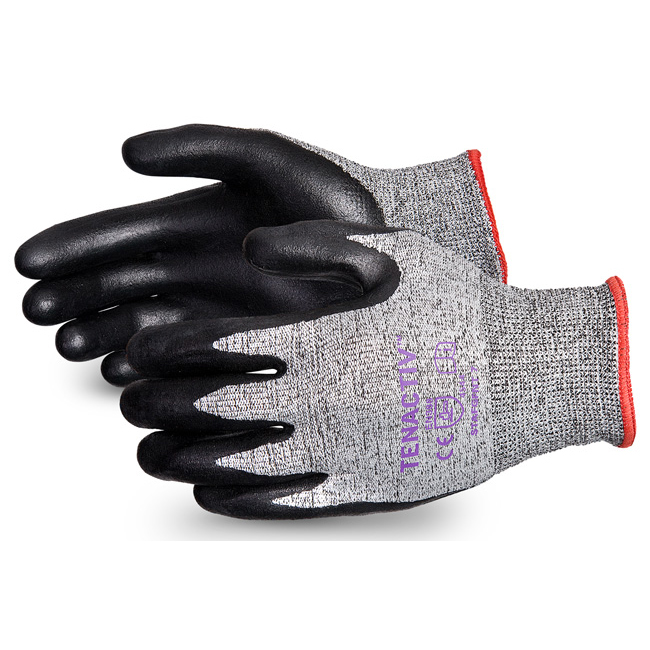 Superior Glove Tenactiv Cut-Resist Composite Knit Nitrile 10 Black Ref SUSTAFGFNT10 *Upto 3 Day Leadtime*