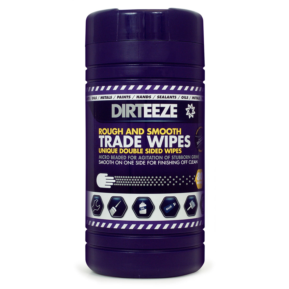 Dirteeze Rough & Smooth Wipes Dispenser Tub 220x200mm Ref DZRS80 80 Wipes *Up to 3 Day Leadtime*