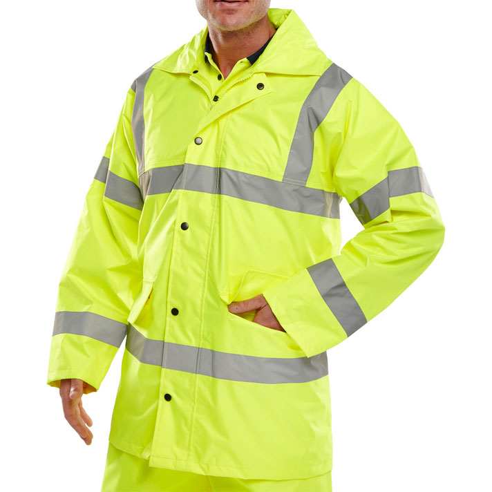 BSeen High Visibility Lightweight EN471 Jacket XL Saturn Yellow Ref TJ8SYXL Up to 3 Day Leadtime