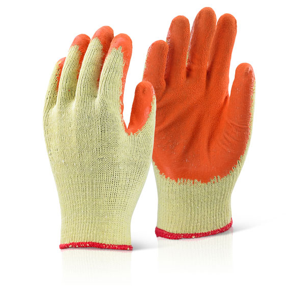 Click2000 Economy Grip Glove XL Orange Ref EC8ORXL Pack 100 *Up to 3 Day Leadtime*