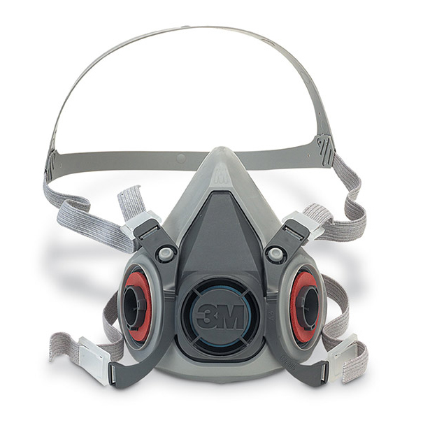 3M 6000 Series Half Mask Small Grey Ref 3M6100S Up to 3 Day Leadtime