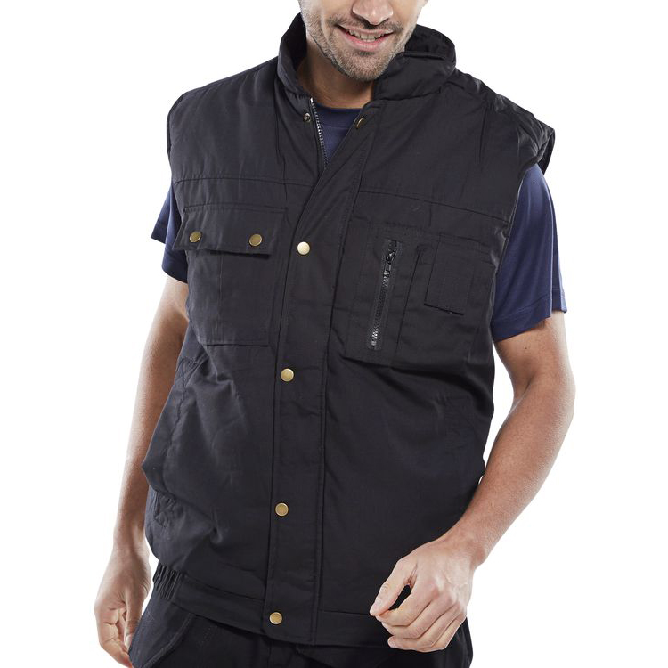 Click Workwear Hudson Bodywarmer Large Black Ref HBBLL Up to 3 Day Leadtime