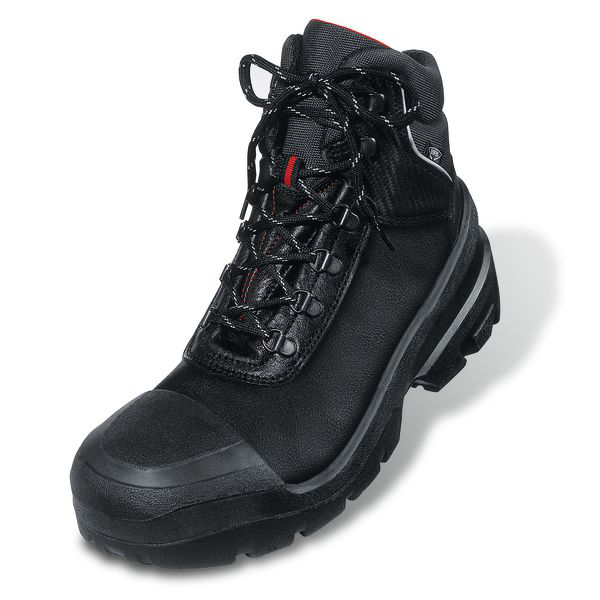 Uvex Quatro Boot Leather Upper PUR Sole Size 15 Wide Fit Black Ref 15/02/8401 Up to 3 Day Leadtime