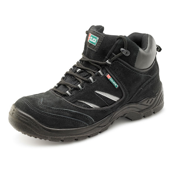 Click Footwear Trainer Boot Steel Toecap PU/Leather Size 10 Black Ref CDDTBBL10 Up to 3 Day Leadtime
