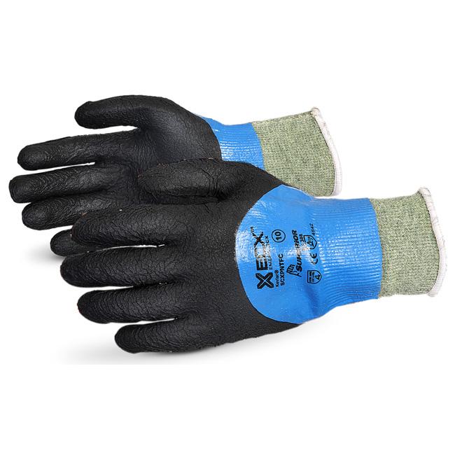 Superior Glove Emerald Cx Liquid Proof Kevlar/WireCore 9 Black Ref SUSCXPNTFC09 *Up to 3 Day Leadtime*
