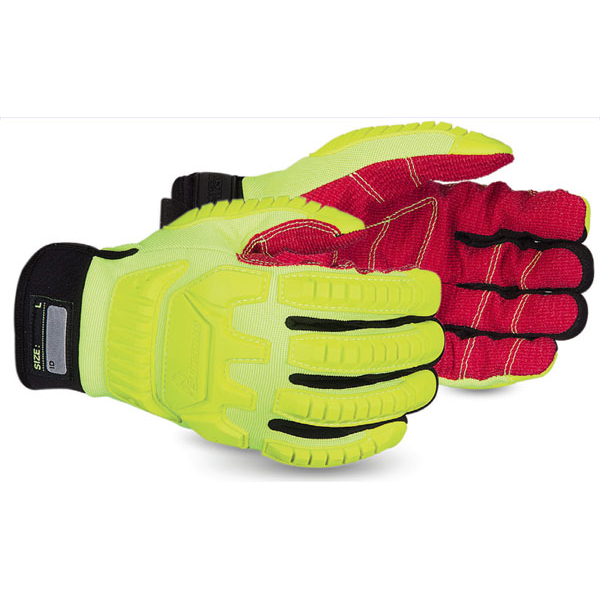 Superior Glove Clutch Gear Anti-Impact Hi-Vis M Yellow Ref SUMXHV5VSBM *Upto 3 Day Leadtime*