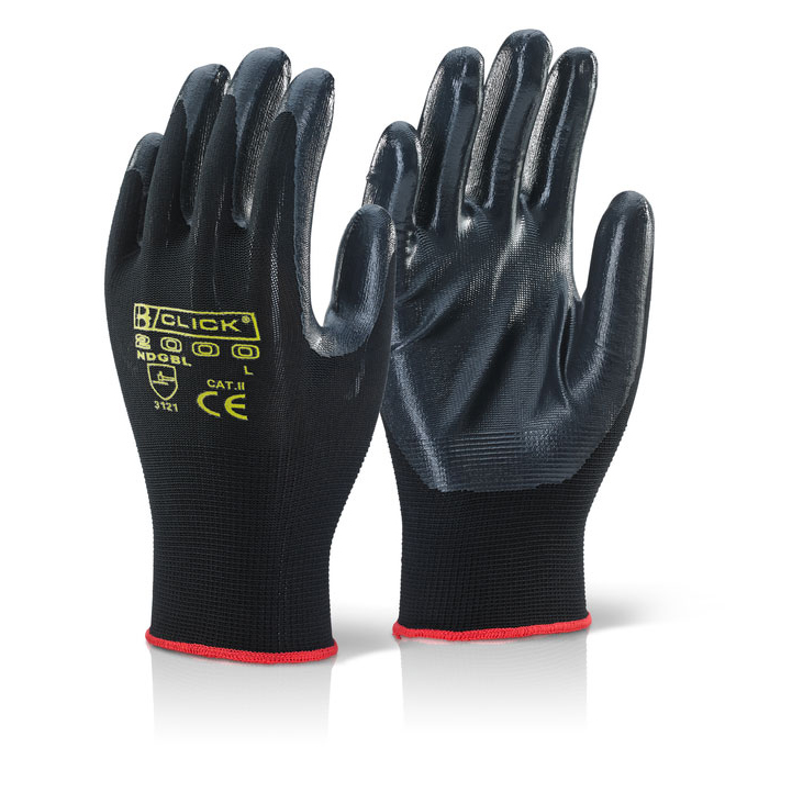 Click2000 Nite Star Glove Size 08 Black Ref NDGBL08 [Pack 100] Up to 3 Day Leadtime