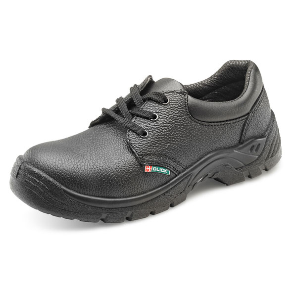 Click Footwear Double Density Economy Shoe S1 PU/Leather Size 7 Black Ref CDDS07 *Up to 3 Day Leadtime*