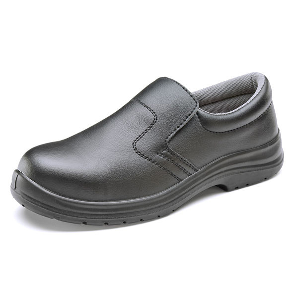 Click Footwear Slip-on Shoes Micro Fibre Size 12 Black Ref CF83312 Up to 3 Day Leadtime