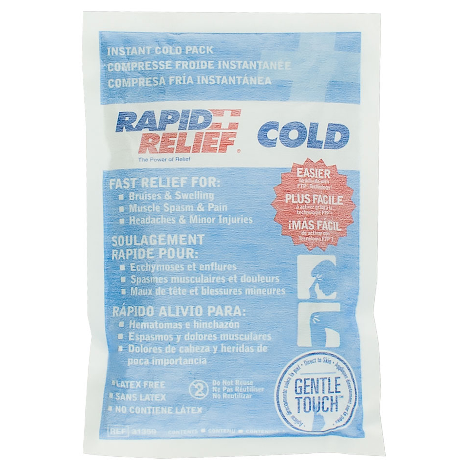 Rapid Relief Instant Cold Pack Gentle Touch Technology Large 5in x 9in Ref RA31359 Up to 3 Day Leadtime