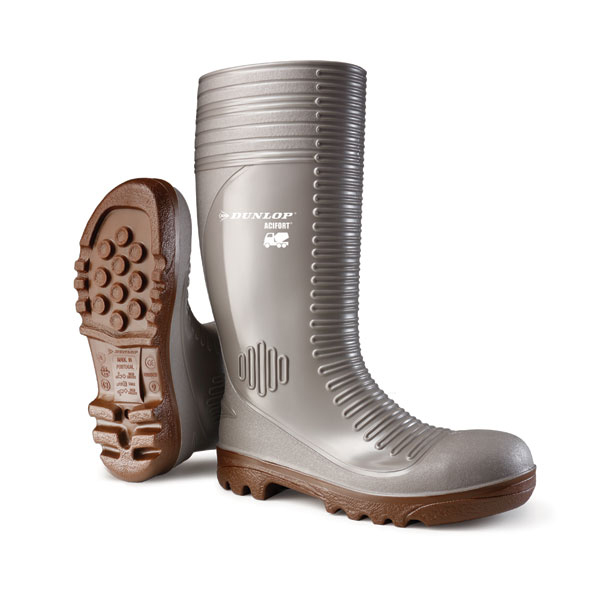 Dunlop Acifort Safety Wellington Boots Heavy Duty Size 12 Grey Ref A242A3112 *Up to 3 Day Leadtime*