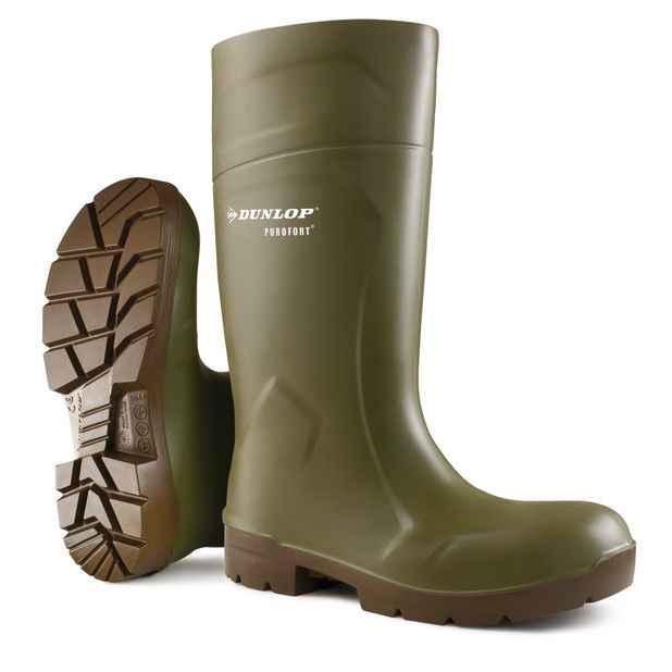 Dunlop Purofort Multigrip Safety Wellington Boots Size 12 Green Ref CA6183112 *Up to 3 Day Leadtime*