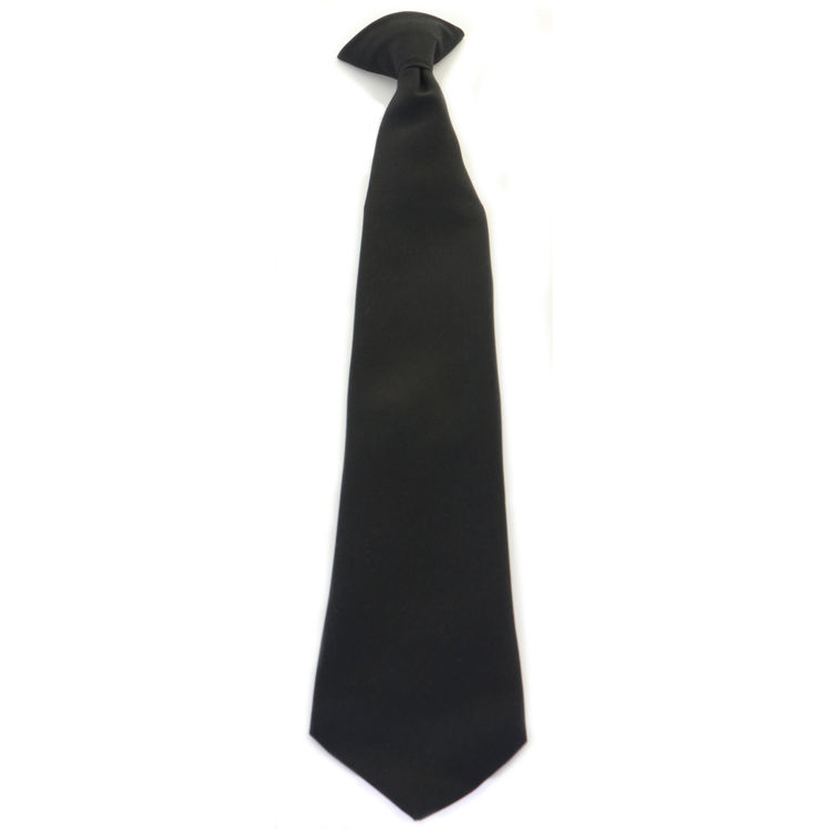 Ties Click Workwear Clip On Tie Black Ref COTBLK *Up to 3 Day Leadtime*