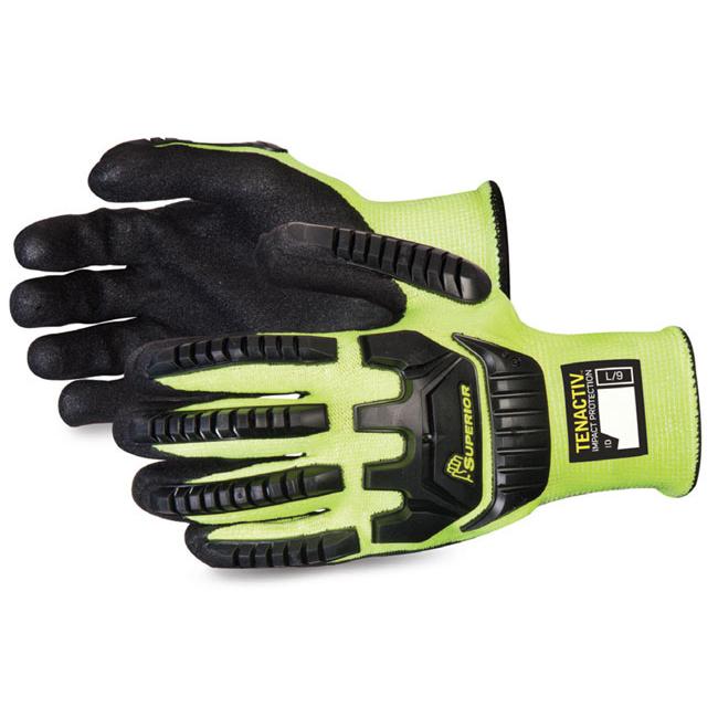 Superior Glove Tenactiv Anti-Impact Hi-Vis Black Widow 10 Yellow Ref SUSTAGYPNVB10 Up to 3 Day Leadtime