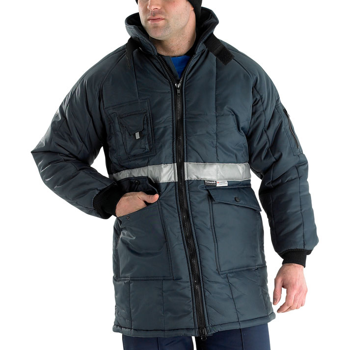 Coldstore Freezer Click Freezerwear Coldstar Freezer Jacket 2XL Navy Blue Ref CCFJNXXL *Up to 3 Day Leadtime*