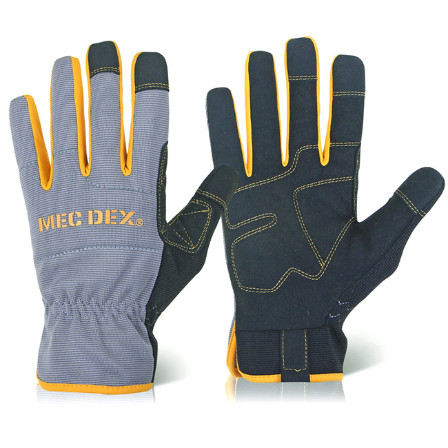 Mecdex Work Passion Plus Mechanics Glove L Ref MECDY-712L Up to 3 Day Leadtime