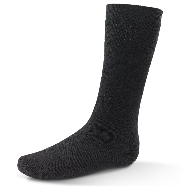 Click Workwear Thermal Terry Socks Cotton/Polyester Black Ref TS 3 Pairs *Up to 3 Day Leadtime*