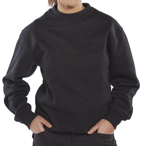 Click Premium Sweatshirt 365gsm L Black Ref CPPCSBLL Up to 3 Day Leadtime
