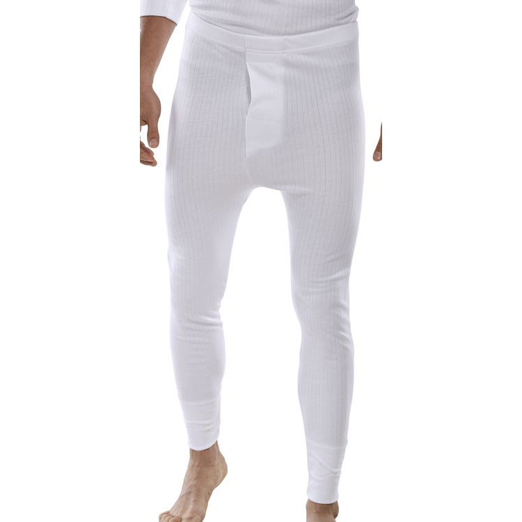 Trousers Click Workwear Thermal Long John Trousers Small White Ref THLJWS *Up to 3 Day Leadtime*