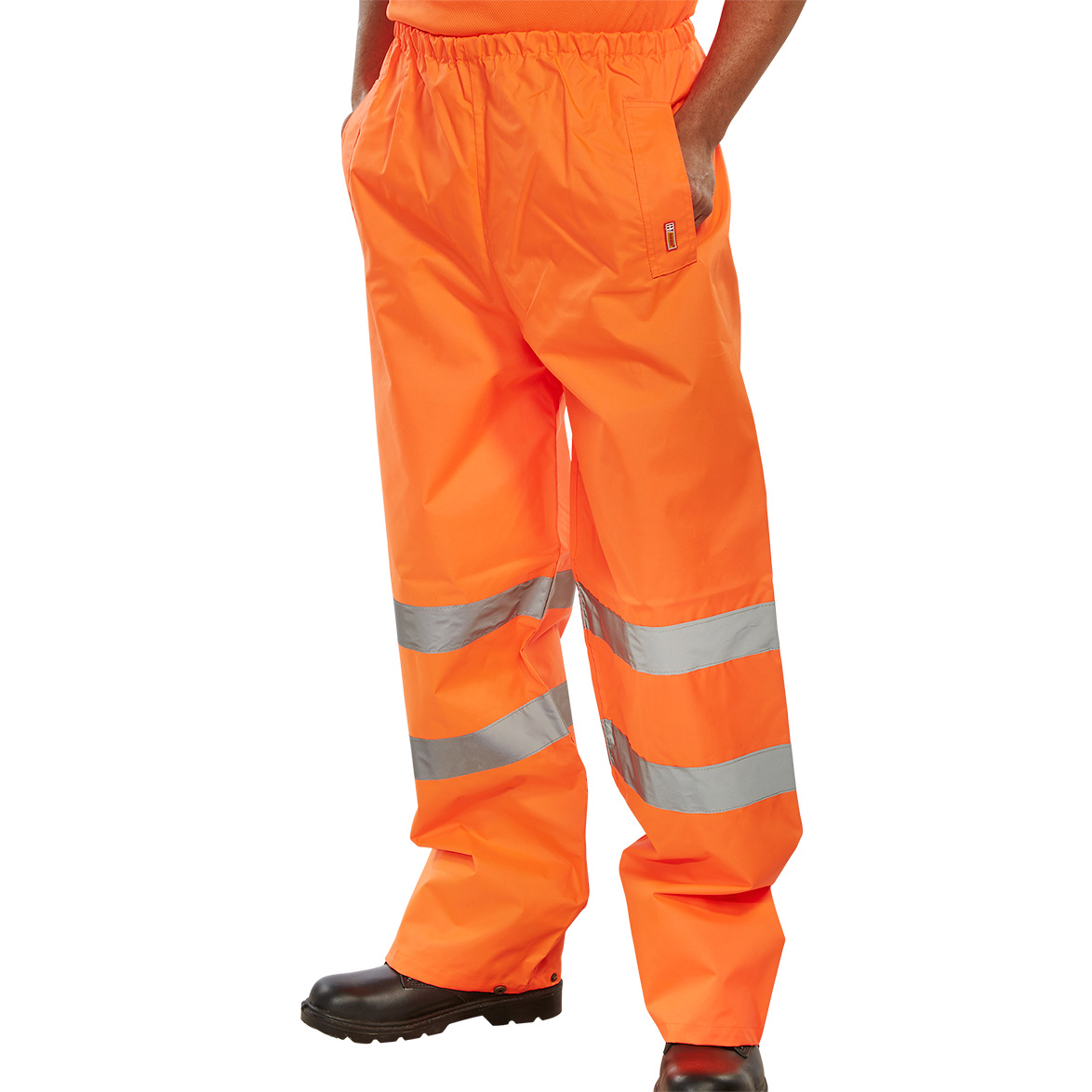 Ladies BSeen Traffic Trousers Hi-Vis Reflective Tape Large Orange Ref TENORL *Up to 3 Day Leadtime*