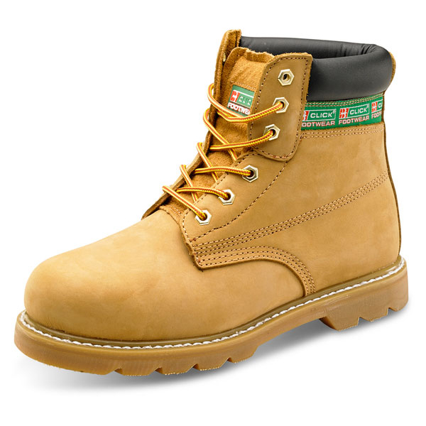 Click Footwear Goodyear Welted 6in Boot Leather 10.5 Nubuck Ref GWBNB10.5 *Up to 3 Day Leadtime*