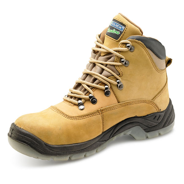 Limitless Click Traders S3 Thinsulate Boot PU/Leather/TPU Nubuck Size 8 Tan Ref CTF25NB08 *Up to 3 Day Leadtime*