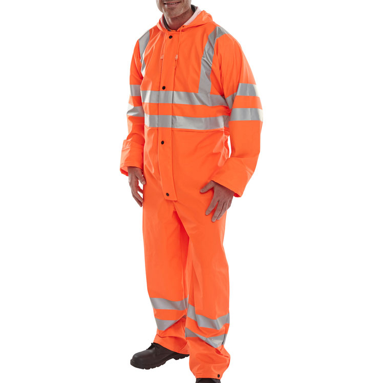 B-Seen Super B-Dri Coveralls Breathable L Orange Ref PUC471ORL Up to 3 Day Leadtime