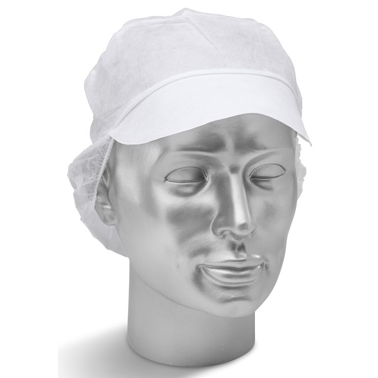 Click Once Disposable Snood Cap White*Up to 3 Day Leadtime*