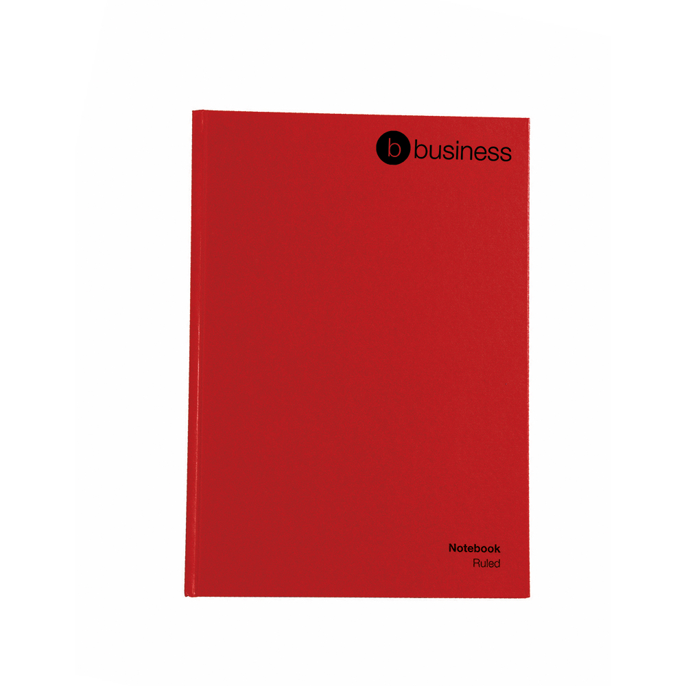 5 Star Office Manuscript Notebook Casebound 70gsm Ruled 192pp A5 Red [Pack 5]
