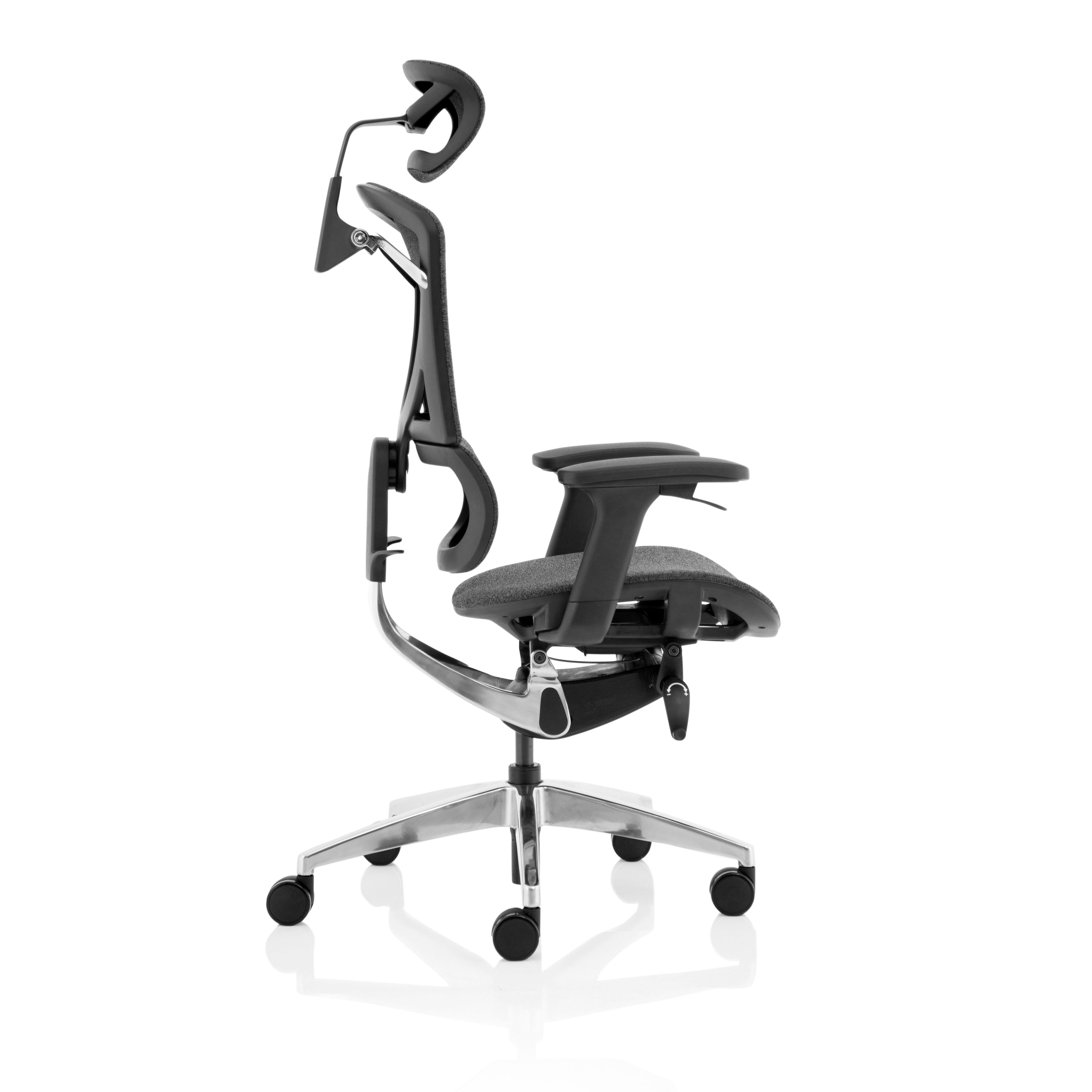 Trexus Ergo Click Plus Fabrimesh Headrest Grey Ref PO000064