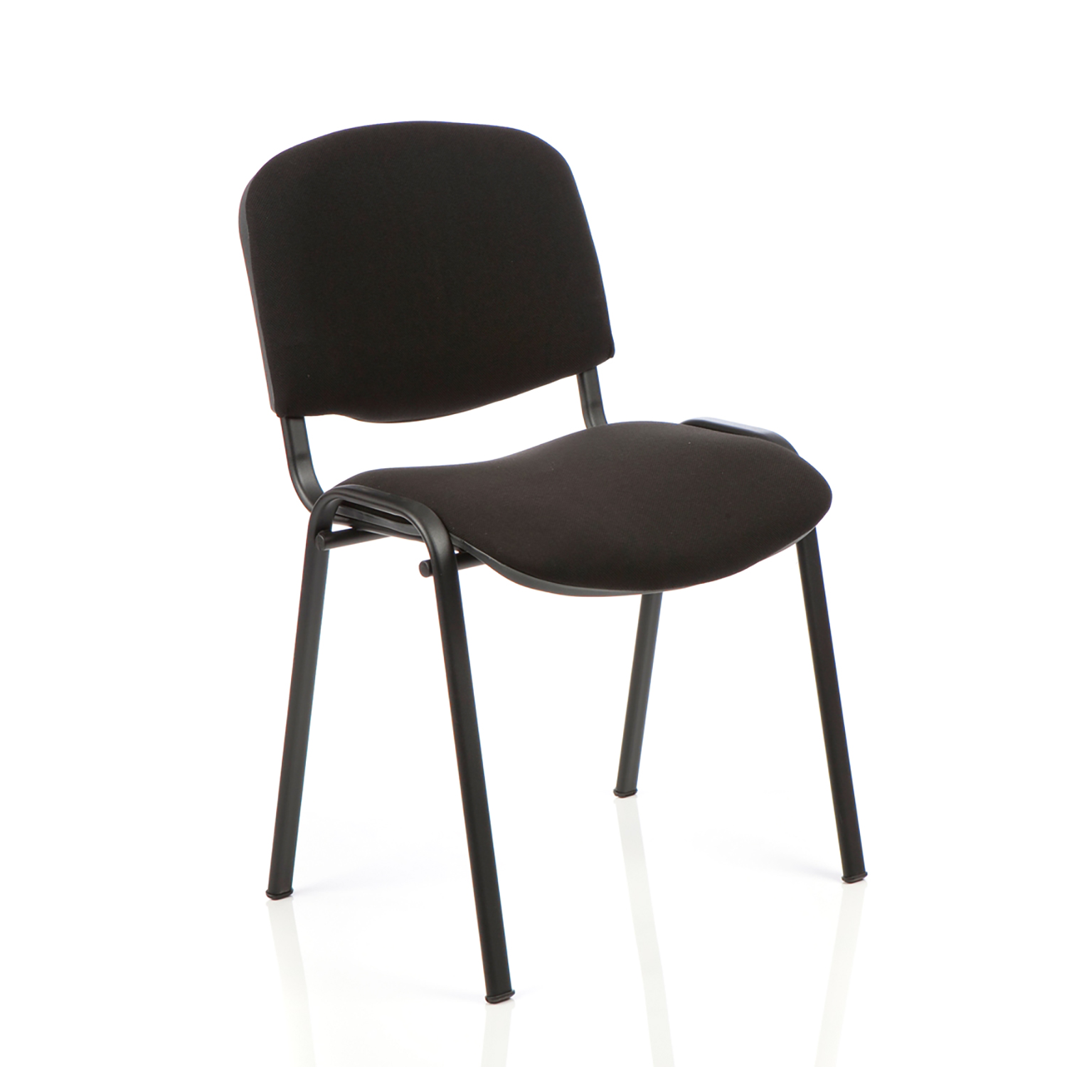 Auditorium or stadium or special use seating Trexus Stacking Chair Black Frame Black 470x420x500mm Ref SP438150