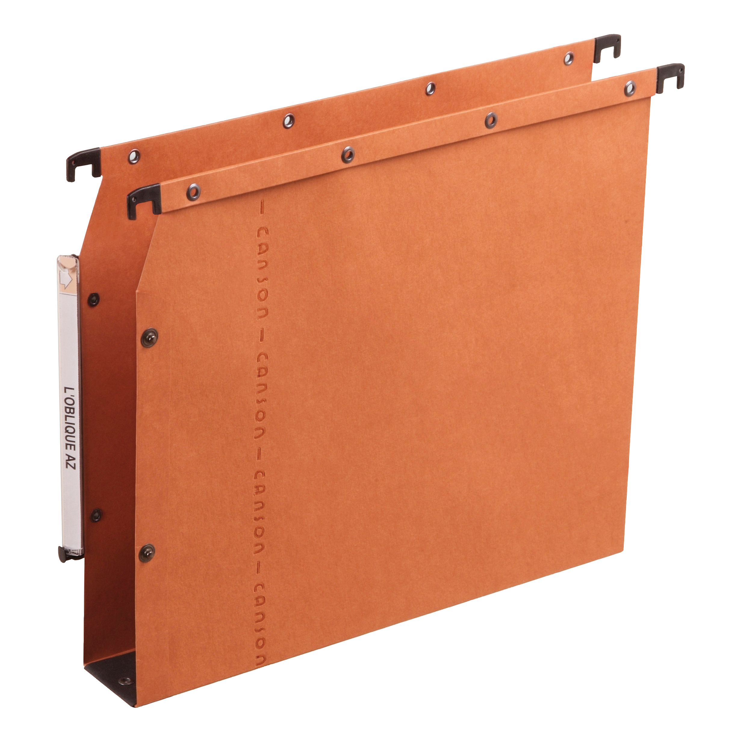 Lateral Files Elba Ultimate AZV Linking Lateral File Manilla 30mm Wide-base 240gsm A4 Orange Ref 100330475 Pack 25
