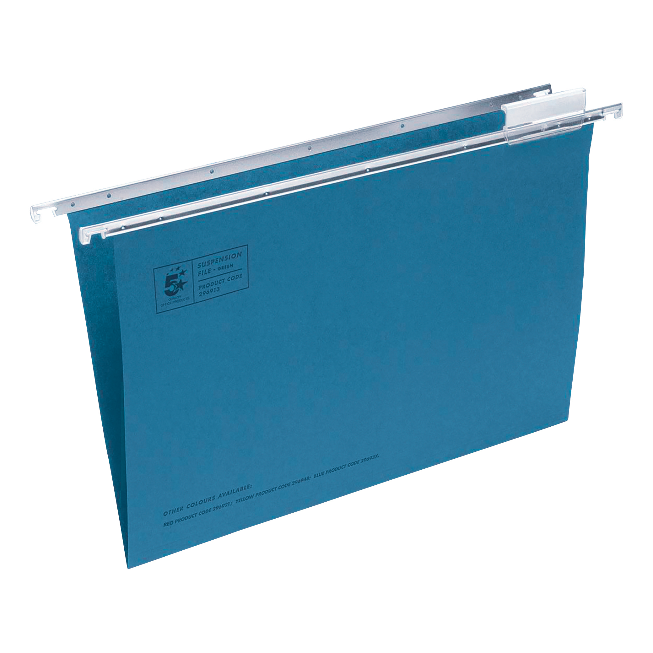 Suspension File 5 Star Office Suspension File with Tabs and Inserts Manilla 15mm V-base 180gsm Foolscap Blue Pack 50