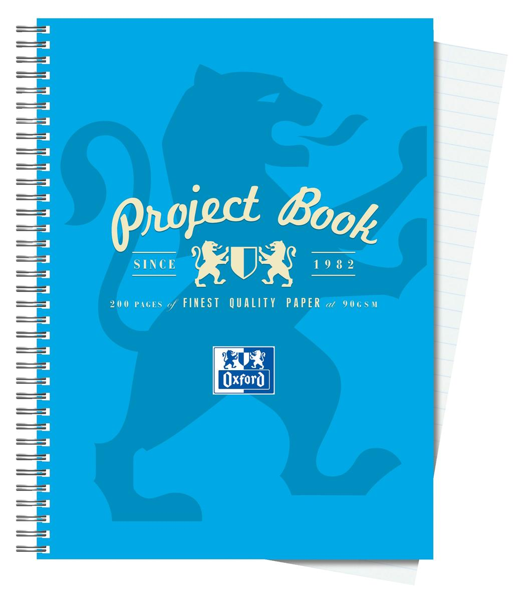 Image for Oxford Campus Project Book Twinwire Ruled with Margin 90gsm 200pp A5 Assorted Ref 400020082 [Pack 5]
