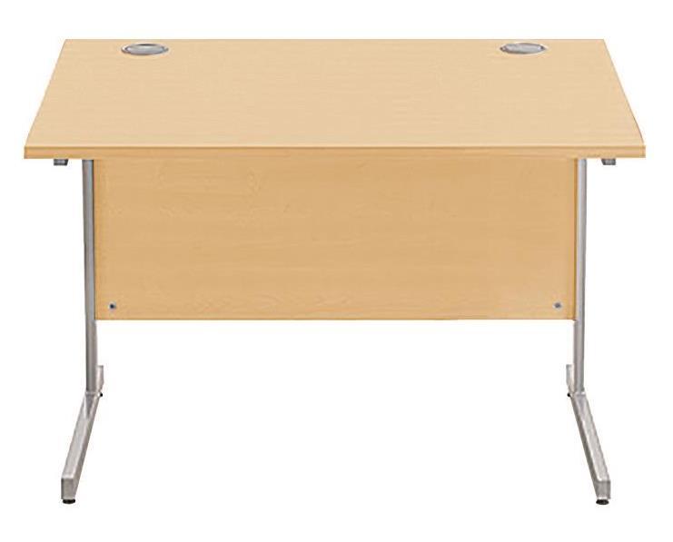 Image for Sonix Cantilever Desk Rectangular Silver Cantilever Leg 1000mm Acer Maple