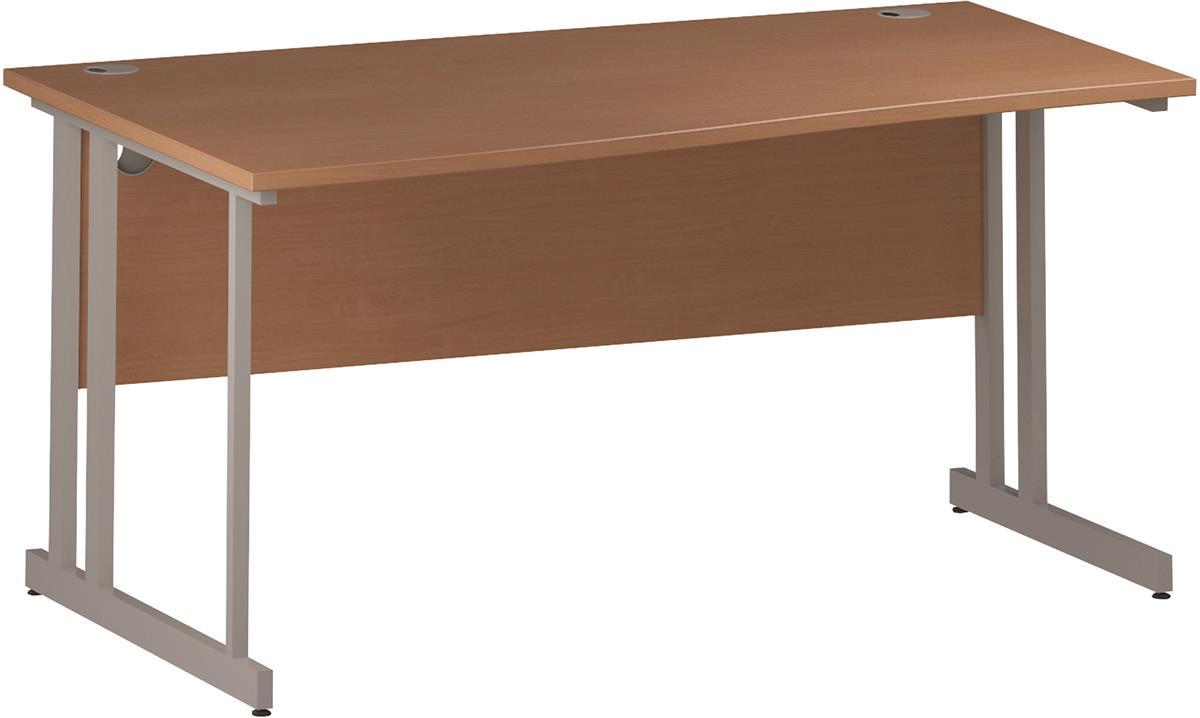 Image for Trexus Wave Desk Left Hand Cantilever Leg 1600mm Beech