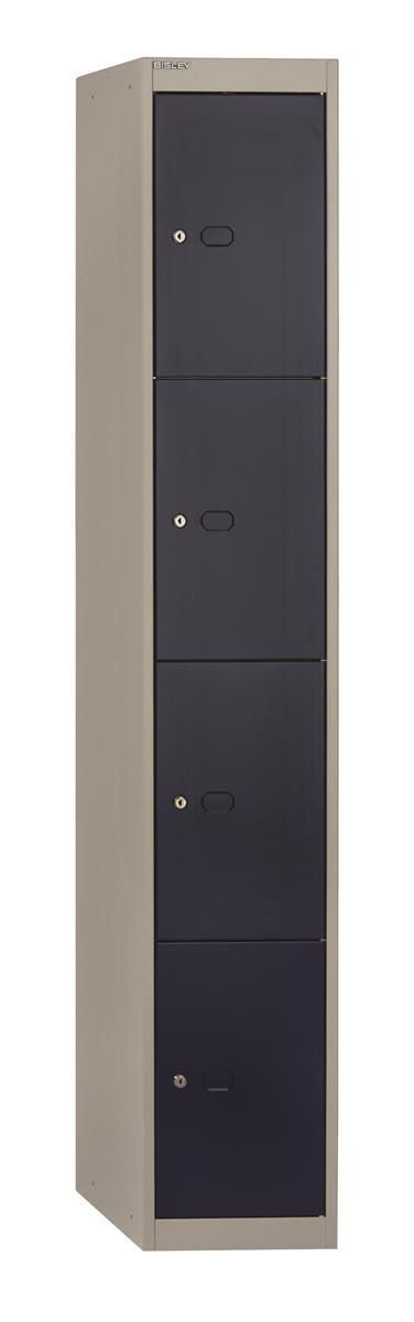 Image for Bisley Steel Locker 457 Four Door Grey/Blue