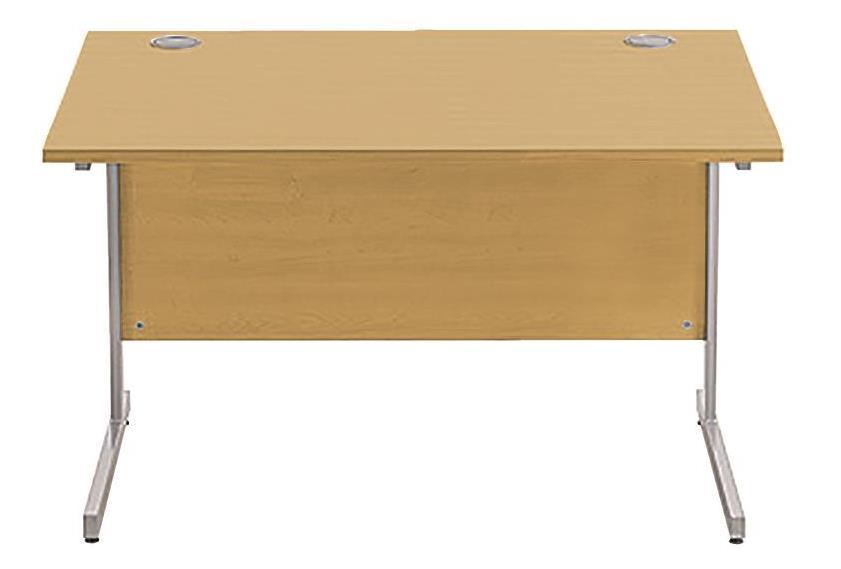 Image for Sonix Cantilever Desk Rectangular Silver Cantilever Leg 1200mm Natural Oak