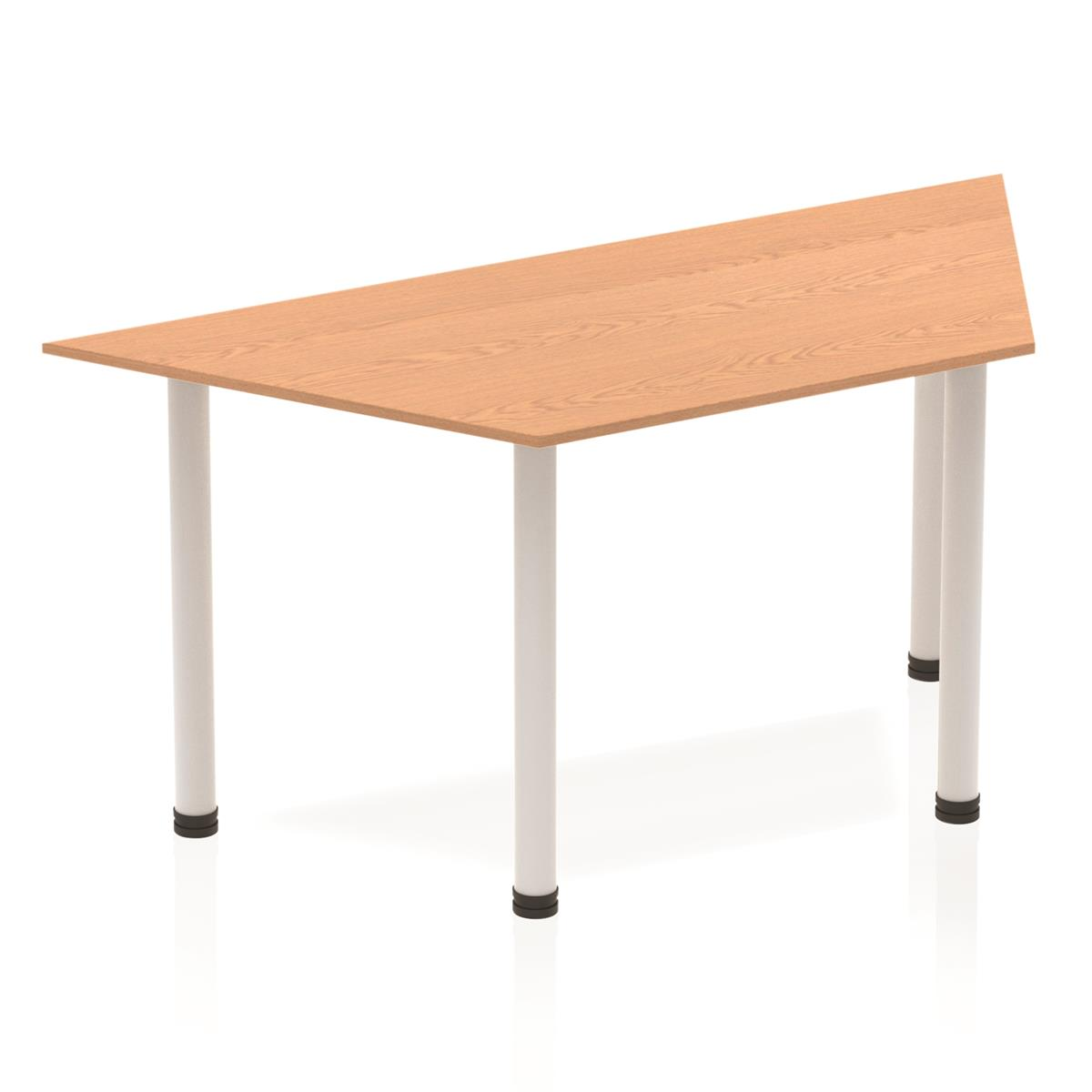 Image for Sonix Trapezium Table Post Leg 1600mm Oak