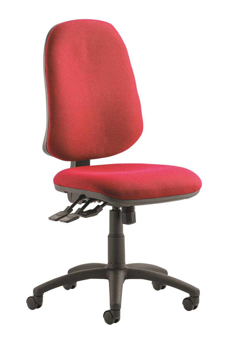 Image for Trexus Operator Chair Flat Packed Fabric Wine