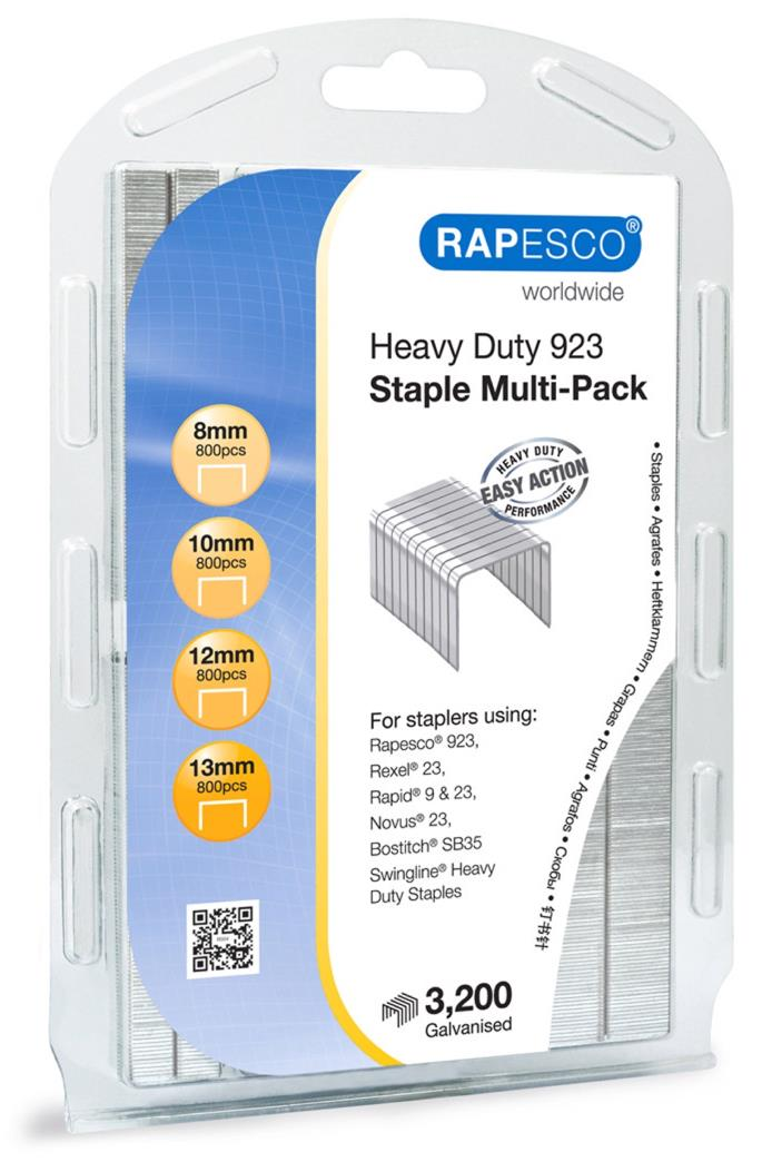 Rapesco 923 Galvanized Staples Multi-pack Rapesco 923 Multipack Pack Ref 1246