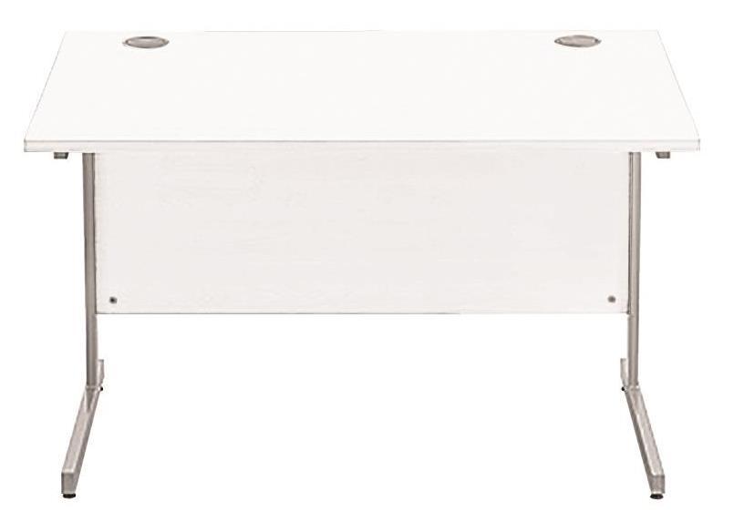 Image for Sonix Cantilever Desk Rectangular Silver Cantilever Leg 1200mm Polar White